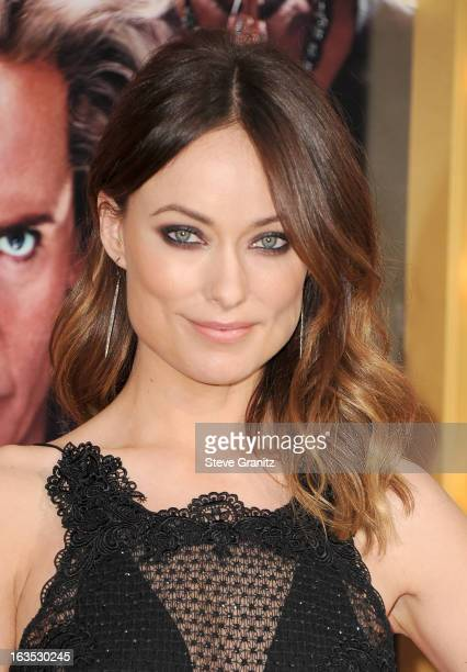 Actress Olivia Wilde attends 'The Incredible Burt Wonderstone' Los Angeles Premiere at TCL Chinese Theatre on March 11 2013 in Hollywood California