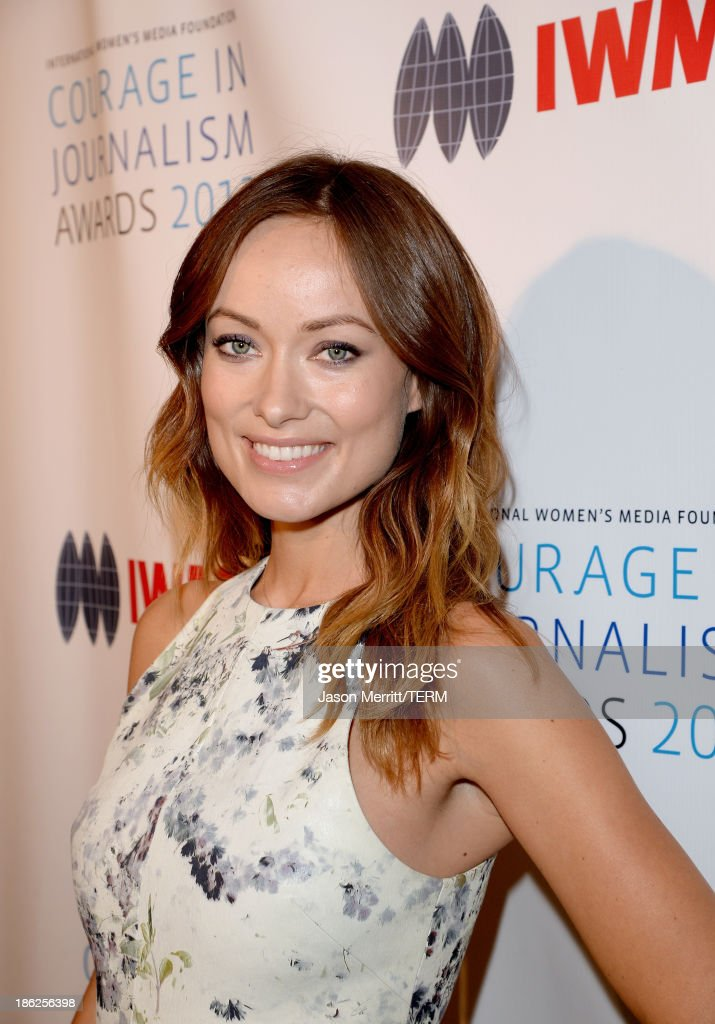 Actress <a gi-track='captionPersonalityLinkClicked' href=/galleries/search?phrase=Olivia+Wilde&family=editorial&specificpeople=235399 ng-click='$event.stopPropagation()'>Olivia Wilde</a> attends the International Women's Media Foundation's 2013 Courage in Journalism Awards at the Beverly Hills Hotel on October 29, 2013 in Beverly Hills, California.