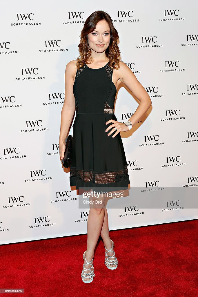 Actress <a gi-track='captionPersonalityLinkClicked' href=/galleries/search?phrase=Olivia+Wilde&family=editorial&specificpeople=235399 ng-click='$event.stopPropagation()'>Olivia Wilde</a> attends the IWC and Tribeca Film Festival 'For the Love of Cinema' celebration at Urban Zen on April 18, 2013 in New York City.