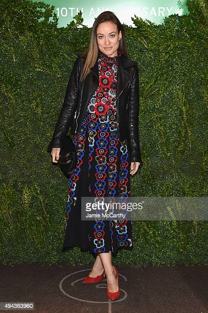 Actress Olivia Wilde attends The Lunchbox Fund Tenth Anniversary Benefit Dinner and Auction at Gabriel Kreuther on October 26 2015 in New York City