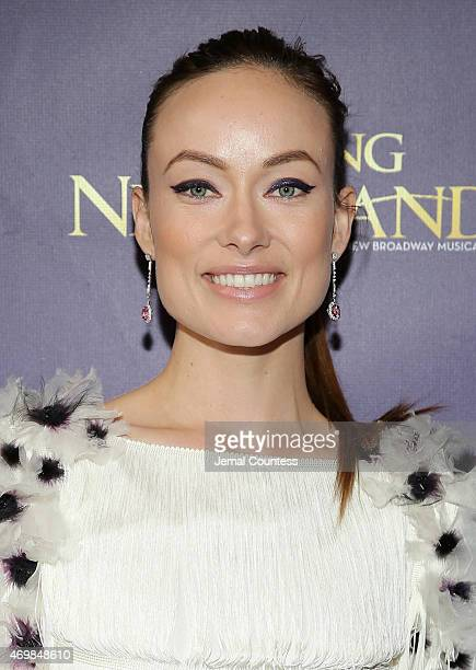 Actress Olivia Wilde attends the opening night of 'Finding Neverland' at LuntFontanne Theatre on April 15 2015 in New York City