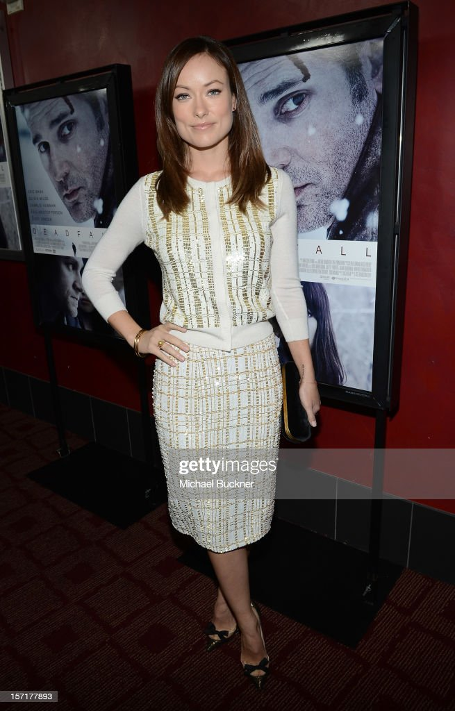 Actress <a gi-track='captionPersonalityLinkClicked' href=/galleries/search?phrase=Olivia+Wilde&family=editorial&specificpeople=235399 ng-click='$event.stopPropagation()'>Olivia Wilde</a> attends the premiere of Magnolia Pictures' 'Deadfall' at the at the ArcLight Cinemas on November 29, 2012 in Hollywood, California.