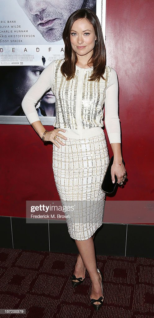 Actress Olivia Wilde attends the premiere of Magnolia Pictures' 'Deadfall' at the ArcLight Cinemas on November 29, 2012 in Hollywood, California.