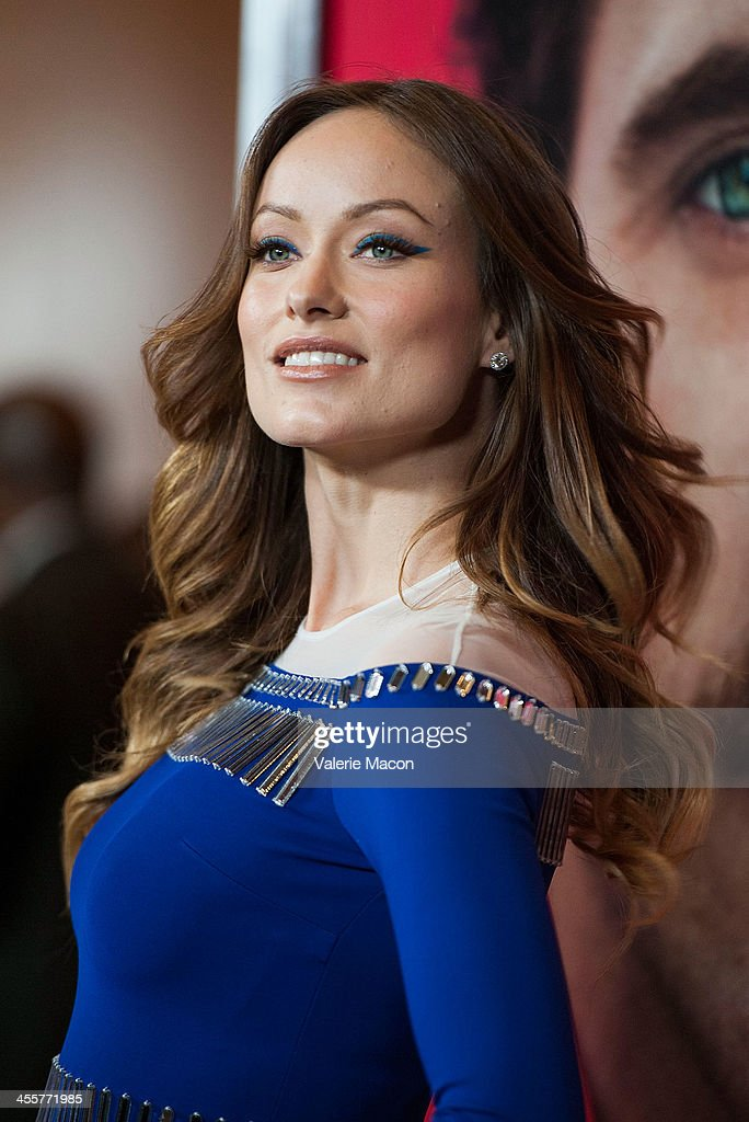 Actress <a gi-track='captionPersonalityLinkClicked' href=/galleries/search?phrase=Olivia+Wilde&family=editorial&specificpeople=235399 ng-click='$event.stopPropagation()'>Olivia Wilde</a> attends the premiere of Warner Bros. Pictures' 'Her.' at DGA Theater on December 12, 2013 in Los Angeles, California.