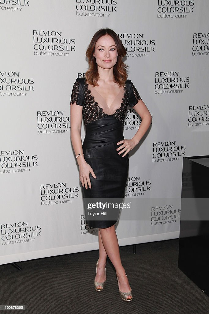 Actress Olivia Wilde attends the Revlon Luxurious ColorSilk Buttercream Launch Hosted By Olivia Wilde at The Royalton Hotel on February 7, 2013 in New York City.