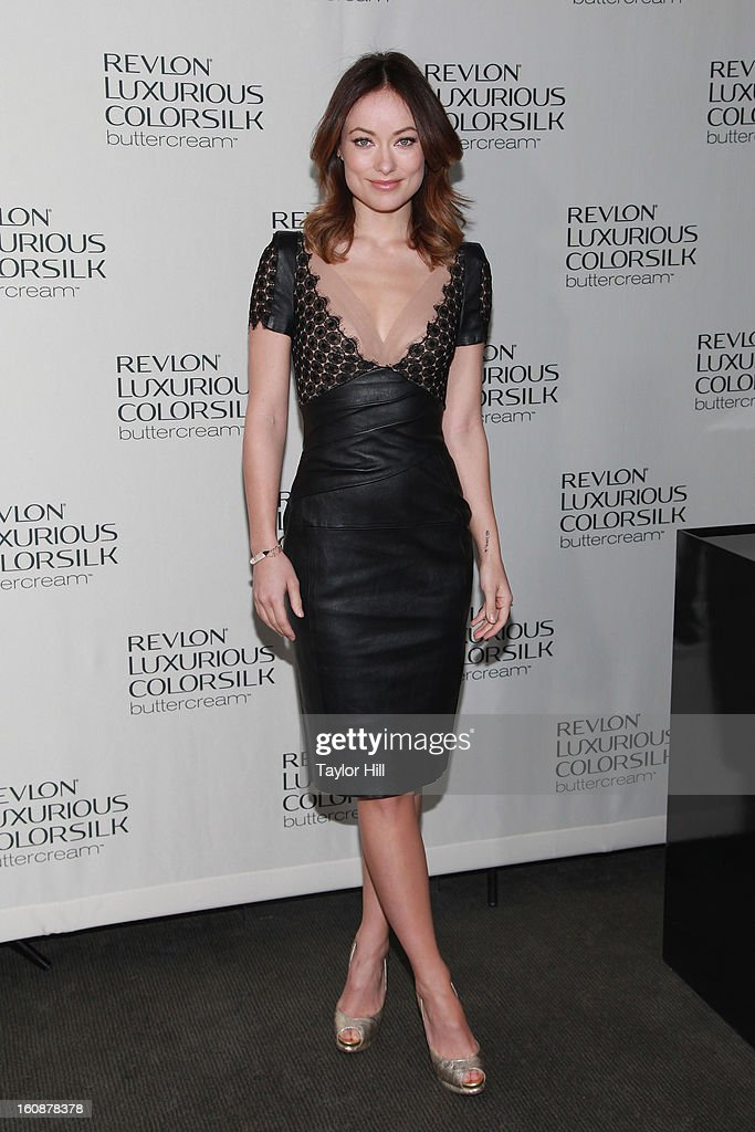 Actress <a gi-track='captionPersonalityLinkClicked' href=/galleries/search?phrase=Olivia+Wilde&family=editorial&specificpeople=235399 ng-click='$event.stopPropagation()'>Olivia Wilde</a> attends the Revlon Luxurious ColorSilk Buttercream Launch Hosted By <a gi-track='captionPersonalityLinkClicked' href=/galleries/search?phrase=Olivia+Wilde&family=editorial&specificpeople=235399 ng-click='$event.stopPropagation()'>Olivia Wilde</a> at The Royalton Hotel on February 7, 2013 in New York City.