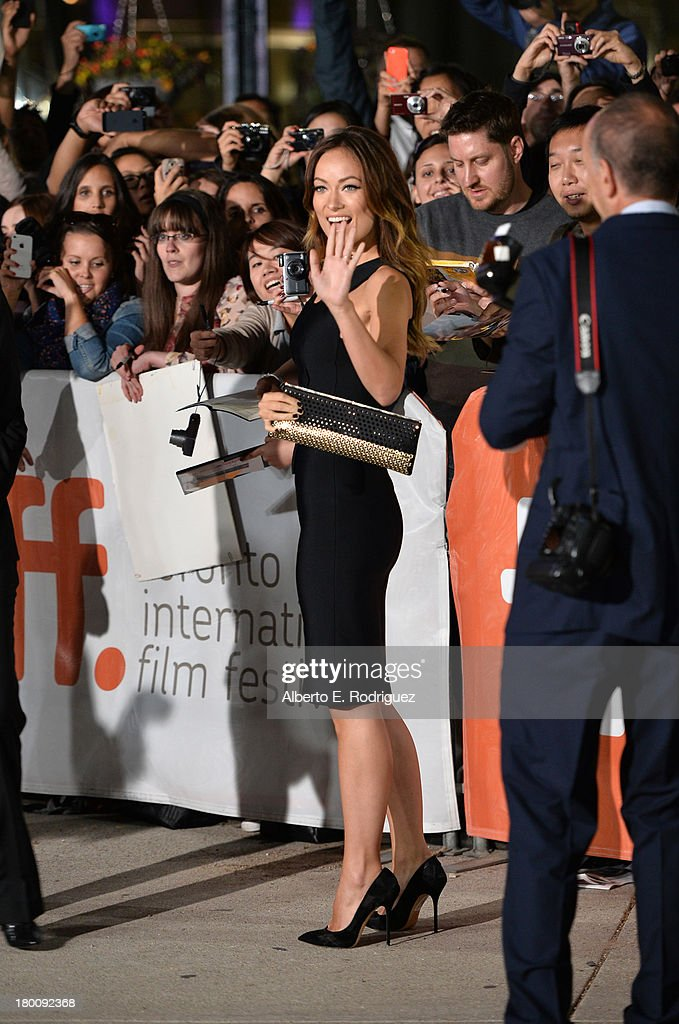 Actress <a gi-track='captionPersonalityLinkClicked' href=/galleries/search?phrase=Olivia+Wilde&family=editorial&specificpeople=235399 ng-click='$event.stopPropagation()'>Olivia Wilde</a> attends the 'Rush' premiere during the 2013 Toronto International Film Festival at Roy Thomson Hall on September 8, 2013 in Toronto, Canada.