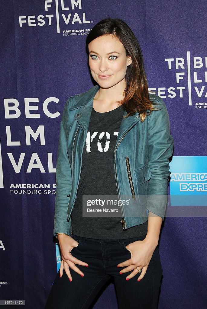 Actress <a gi-track='captionPersonalityLinkClicked' href=/galleries/search?phrase=Olivia+Wilde&family=editorial&specificpeople=235399 ng-click='$event.stopPropagation()'>Olivia Wilde</a> attends the Shorts Program - Character Witness during the 2013 Tribeca Film Festival at AMC Loews Village 7 on April 22, 2013 in New York City.