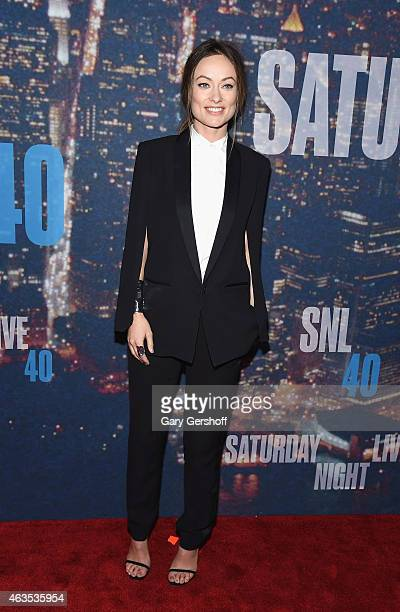 Actress Olivia Wilde attends the SNL 40th Anniversary Celebration at Rockefeller Plaza on February 15 2015 in New York City