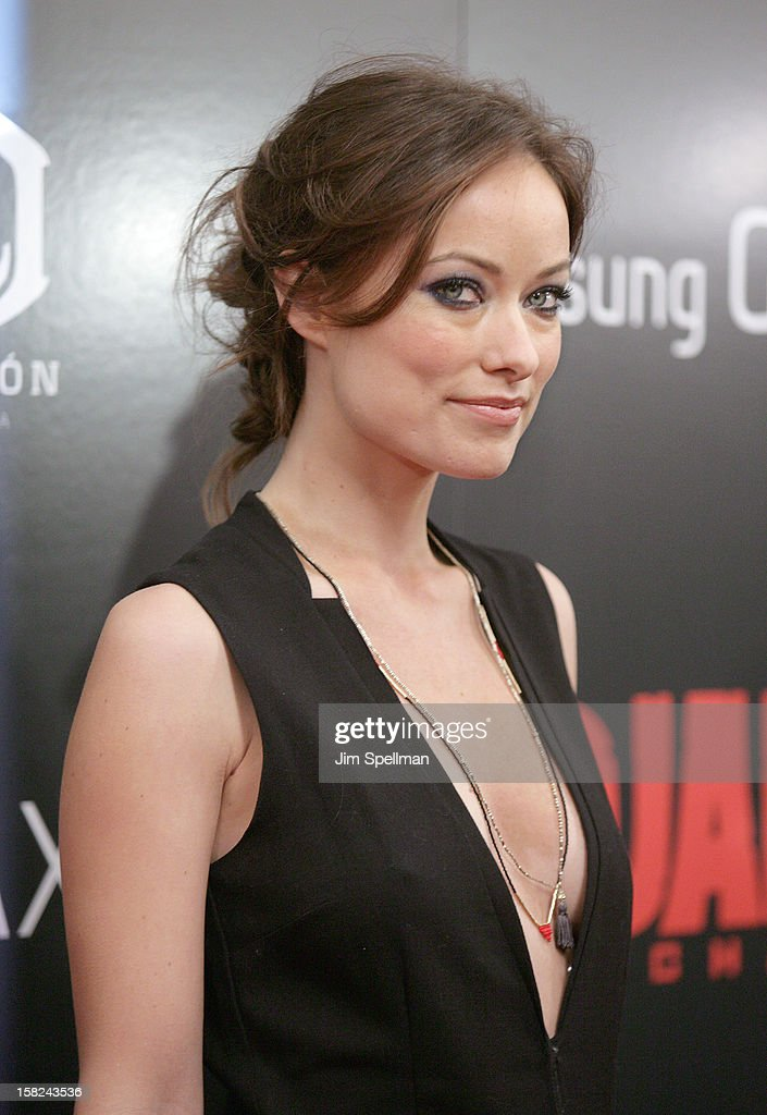 Actress Olivia Wilde attends The Weinstein Company with The Hollywood Reporter, Samsung Galaxy & The Cinema Society screening of 'Django Unchained' at the Ziegfeld Theatre on December 11, 2012 in New York City.