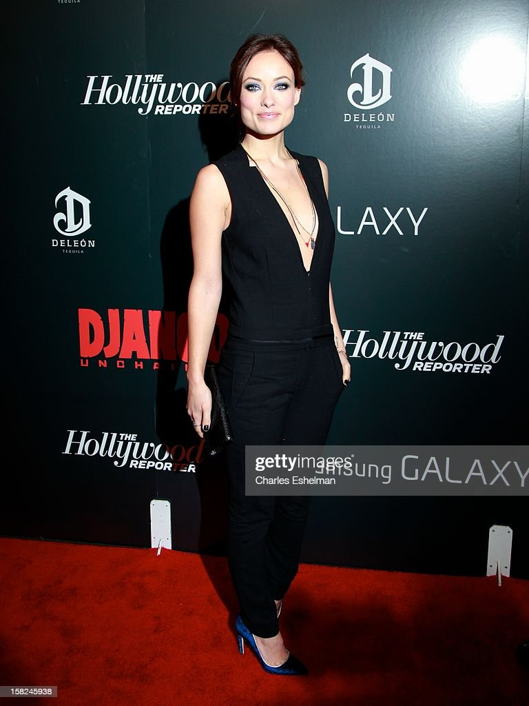 Actress Olivia Wilde attends The Weinstein Company With The Hollywood Reporter, Samsung Galaxy And The Cinema Society Host A Screening Of 'Django Unchained' at Ziegfeld Theater on December 11, 2012 in New York City.