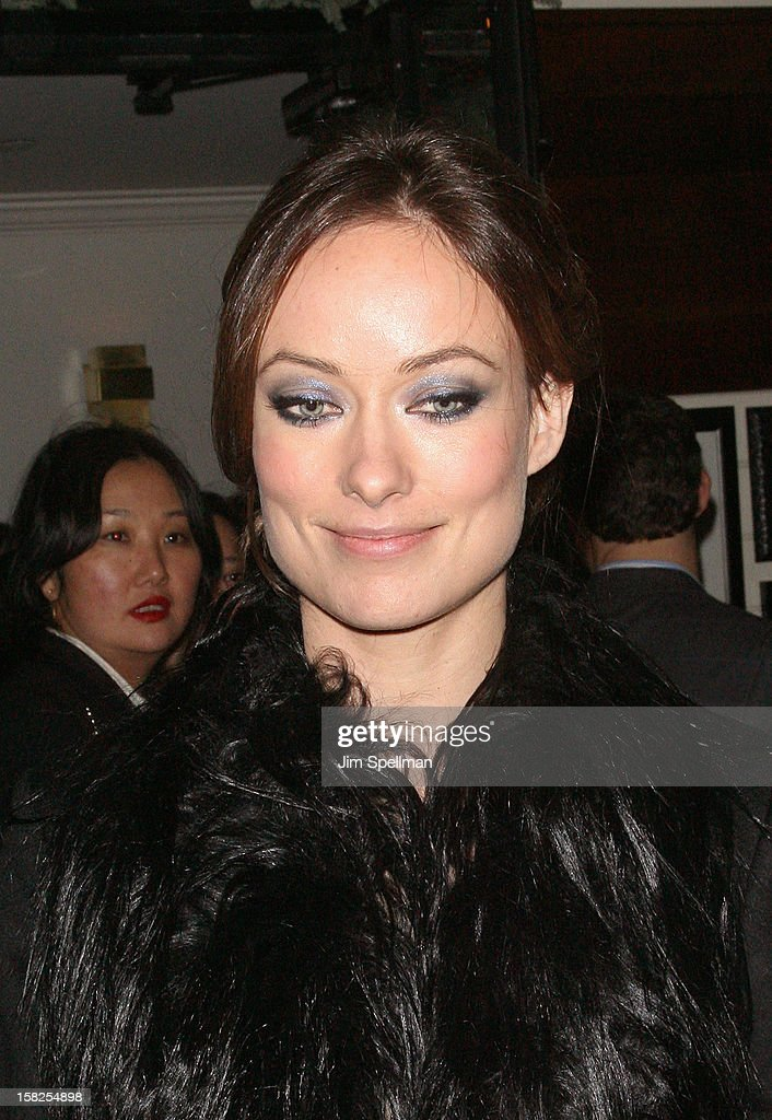Actress Olivia Wilde attends The Weinstein Company with The Hollywood Reporter, Samsung Galaxy & The Cinema Society screening of 'Django Unchained' after party at the The Standard Hotel on December 11, 2012 in New York City.
