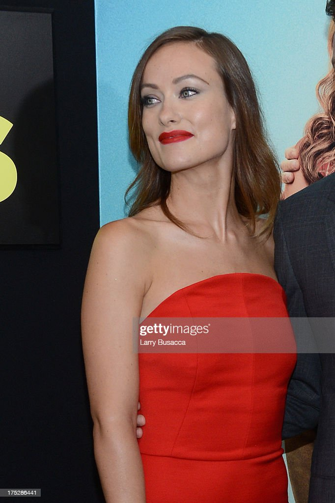 Actress Olivia Wilde attends the 'We're The Millers' New York Premiere at Ziegfeld Theater on August 1, 2013 in New York City.