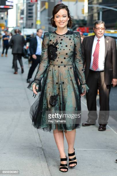 Actress Olivia Wilde enters the 'The Late Show With Stephen Colbert' taping at the Ed Sullivan Theater on June 13 2017 in New York City