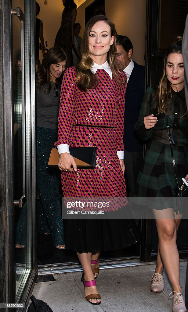 Actress Olivia Wilde is seen arriving at Michael Kors fashion show during Spring 2016 New York Fashion Week on September 16, 2015 in New York City.
