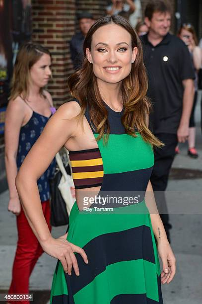Actress Olivia Wilde leaves the 'Late Show With David Letterman' taping at the Ed Sullivan Theater on June 17 2014 in New York City