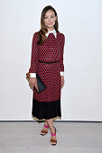 Actress Olivia Wilde poses backstage at the Michael Kors Spring 2016 Runway Show during New York Fashion Week The Shows at Spring Studios on...