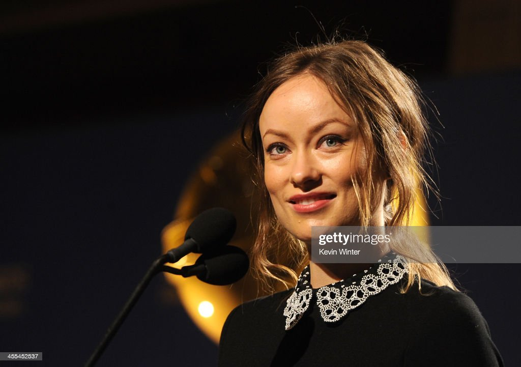 Actress <a gi-track='captionPersonalityLinkClicked' href=/galleries/search?phrase=Olivia+Wilde&family=editorial&specificpeople=235399 ng-click='$event.stopPropagation()'>Olivia Wilde</a> speaks at the 71st Golden Globe Awards Nominations Announcement at The Beverly Hilton Hotel on December 12, 2013 in Beverly Hills, California.