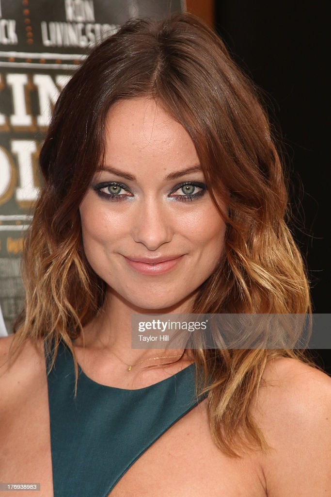 Actress <a gi-track='captionPersonalityLinkClicked' href=/galleries/search?phrase=Olivia+Wilde&family=editorial&specificpeople=235399 ng-click='$event.stopPropagation()'>Olivia Wilde</a> ttends the 'Drinking Buddies' screening at Nitehawk Cinema on August 19, 2013 in the Brooklyn borough of New York City.