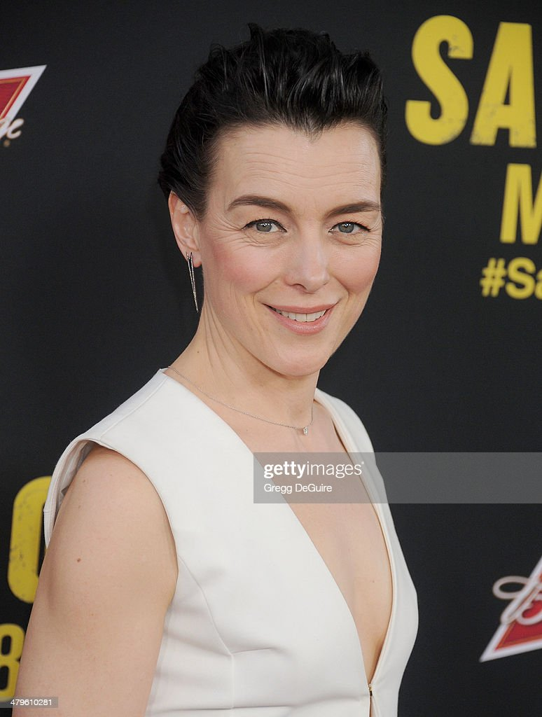 Actress <a gi-track='captionPersonalityLinkClicked' href=/galleries/search?phrase=Olivia+Williams&family=editorial&specificpeople=203186 ng-click='$event.stopPropagation()'>Olivia Williams</a> arrives at the Los Angeles premiere of 'Sabotage' at Regal Cinemas L.A. Live on March 19, 2014 in Los Angeles, California.
