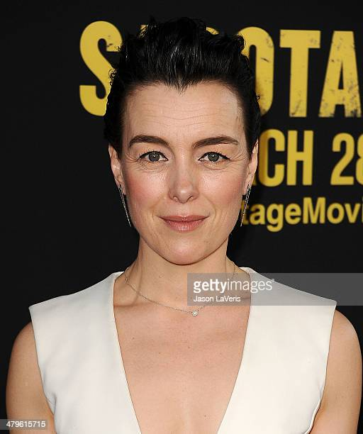 Actress Olivia Williams attends the premiere of 'Sabotage' at Regal Cinemas LA Live on March 19 2014 in Los Angeles California