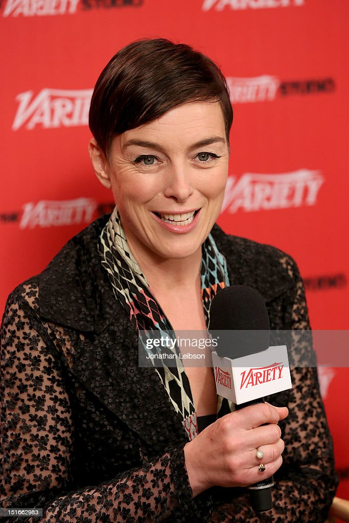 Actress <a gi-track='captionPersonalityLinkClicked' href=/galleries/search?phrase=Olivia+Williams&family=editorial&specificpeople=203186 ng-click='$event.stopPropagation()'>Olivia Williams</a> speaks at the Variety Studio presented by Moroccanoil at Holt Renfrew on Day 2 at Holt Renfrew, Toronto during the 2012 Toronto International Film Festival on September 9, 2012 in Toronto, Canada.