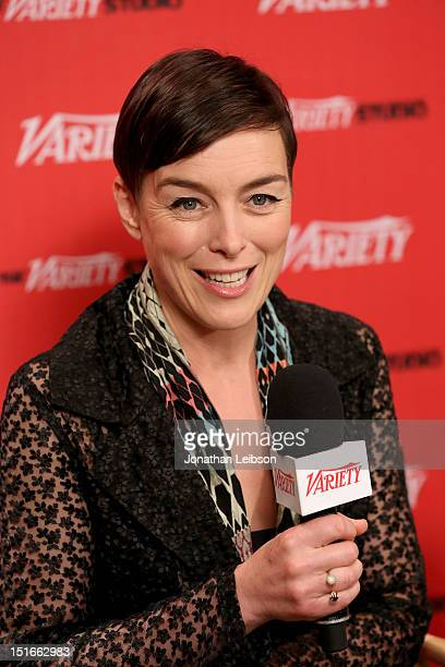 Actress Olivia Williams speaks at the Variety Studio presented by Moroccanoil at Holt Renfrew on Day 2 at Holt Renfrew Toronto during the 2012...