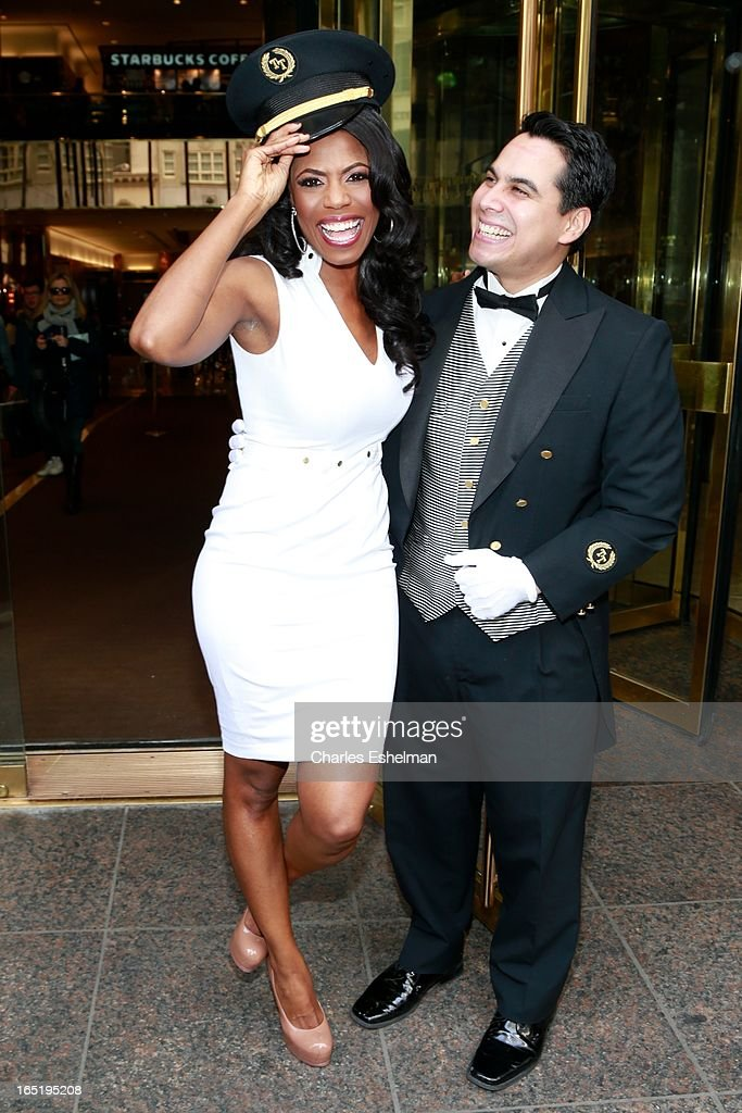 Actress Omarosa Manigault departs the 'All-Star Celebrity Apprentice' Red Carpet Event at Trump Tower on April 1, 2013 in New York City.