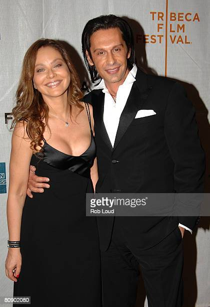 Actress Omella Muti and Fabrice Kehrhbeg attends the premiere of 'Toby Dammit' during the 2008 Tribeca Film Festival on April 28 2008 in New York City