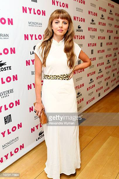 Actress Ophelia Lovibond arrives at Nylon Magazine's Music Issue party hosted by MIA held at SkyBar in the Mondrian Hotel Los Angeles on June 22 2010...