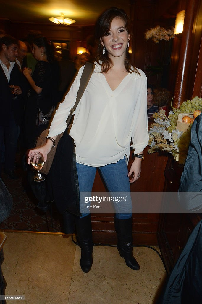 Actress Ophelie Bazillou attends the Prix de Flore 2013' : Ceremony Cocktail At Cafe De Flore on November 7, 2013 in Paris, France.