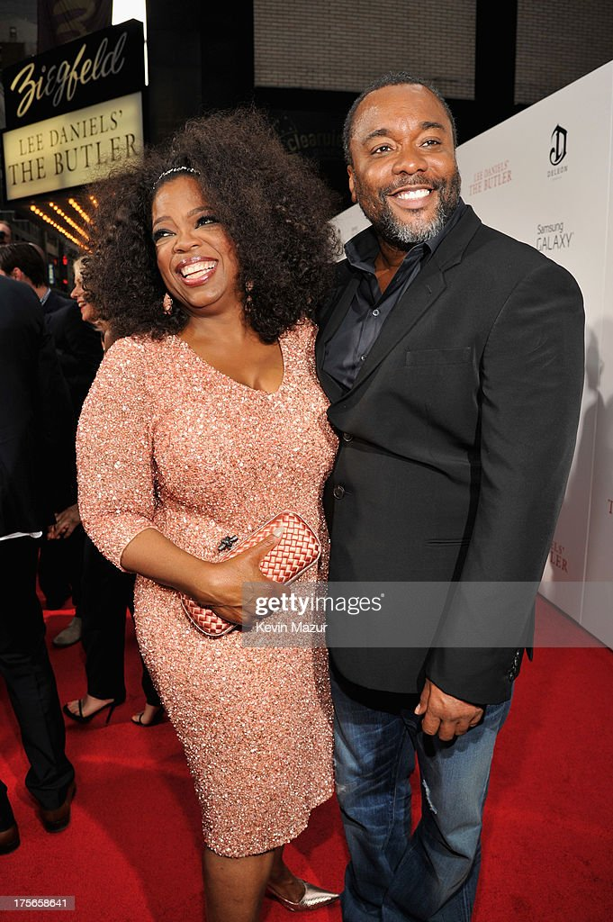 Actress <a gi-track='captionPersonalityLinkClicked' href=/galleries/search?phrase=Oprah+Winfrey&family=editorial&specificpeople=171750 ng-click='$event.stopPropagation()'>Oprah Winfrey</a> (L) and director <a gi-track='captionPersonalityLinkClicked' href=/galleries/search?phrase=Lee+Daniels&family=editorial&specificpeople=209078 ng-click='$event.stopPropagation()'>Lee Daniels</a> attend <a gi-track='captionPersonalityLinkClicked' href=/galleries/search?phrase=Lee+Daniels&family=editorial&specificpeople=209078 ng-click='$event.stopPropagation()'>Lee Daniels</a>' 'The Butler' New York premiere, hosted by TWC, DeLeon Tequila and Samsung Galaxy on August 5, 2013 in New York City.