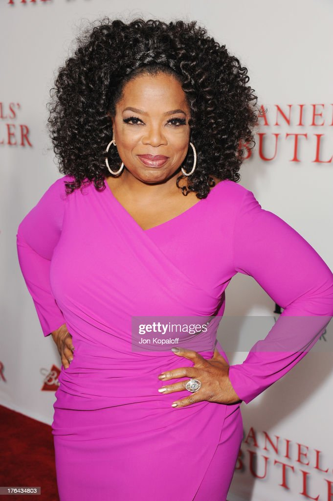 Actress <a gi-track='captionPersonalityLinkClicked' href=/galleries/search?phrase=Oprah+Winfrey&family=editorial&specificpeople=171750 ng-click='$event.stopPropagation()'>Oprah Winfrey</a> arrives at the Los Angeles Premiere 'Lee Daniels' The Butler' at Regal Cinemas L.A. Live on August 12, 2013 in Los Angeles, California.
