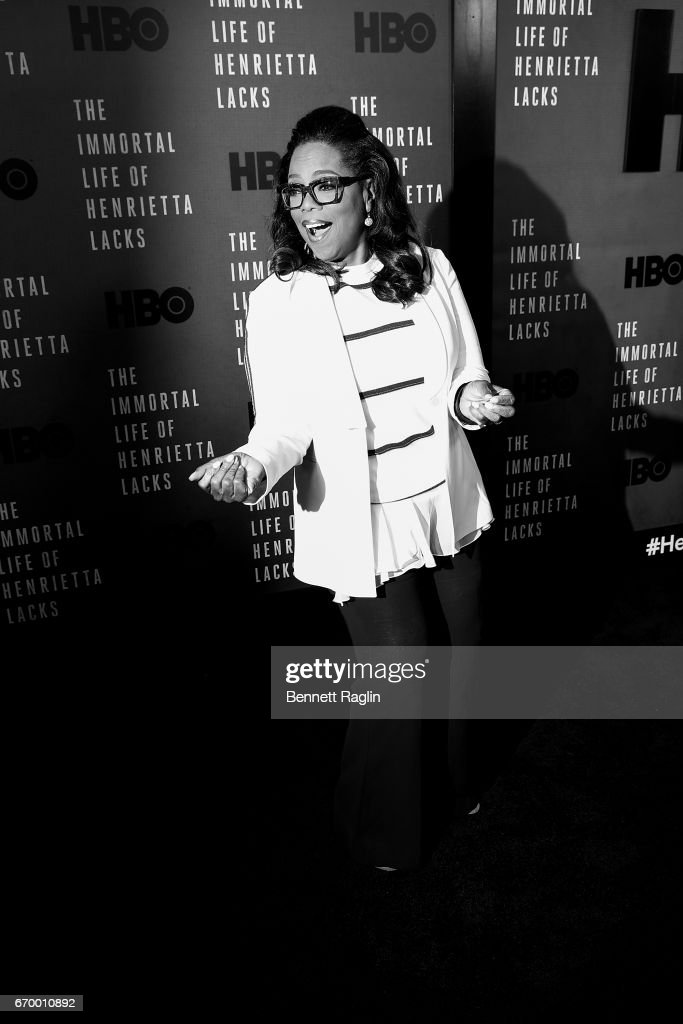 Actress Oprah Winfrey attends 'The Immortal Life Of Henrietta Lacks' New York Premiere at SVA Theater on April 18, 2017 in New York City.