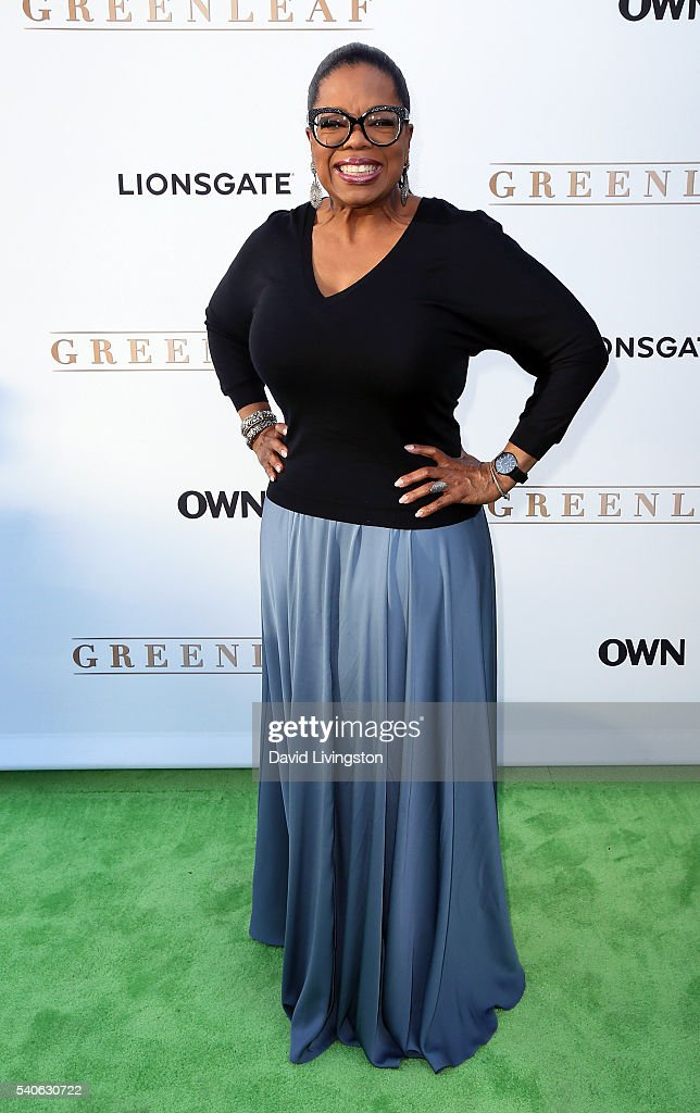 Actress Oprah Winfrey attends the premiere of OWN's 'Greenleaf' at The Lot on June 15, 2016 in West Hollywood, California.