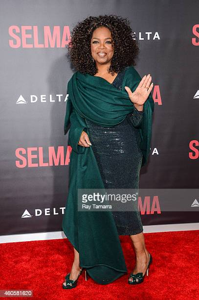 Actress Oprah Winfrey enters the 'Selma' New York Premiere at the Ziegfeld Theater on December 14 2014 in New York City