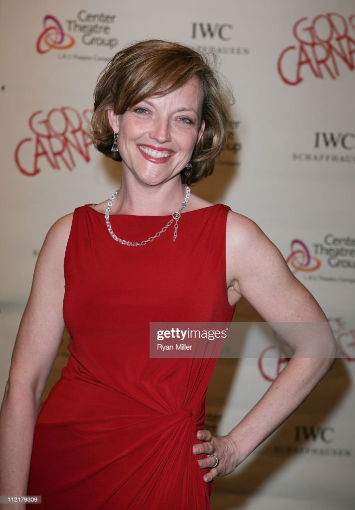 Actress Orlagh Cassidy poses during the arrivals for the opening night performance of 'God of Carnage' at Center Theatre Group's Ahmanson Theatre on April 13, 2011 in Los Angeles, California.