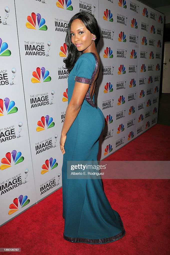 Actress Osas Ighodaro arrives at the 43rd NAACP Image Awards held at The Shrine Auditorium on February 17, 2012 in Los Angeles, California.
