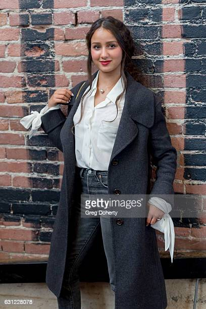 Actress Oulaya Amamra poses for a picture before the American Cinematheque Panel Discussion With Golden Globe Nominated ForeignLanguage Directors at...