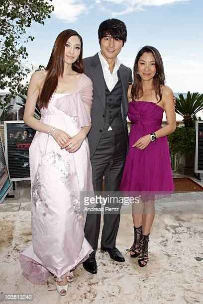 Actress Pace Wu actor Jung WooSung and actress Michelle Yeoh attend the 67th Venice Film Festival on September 3 2010 in Venice Italy