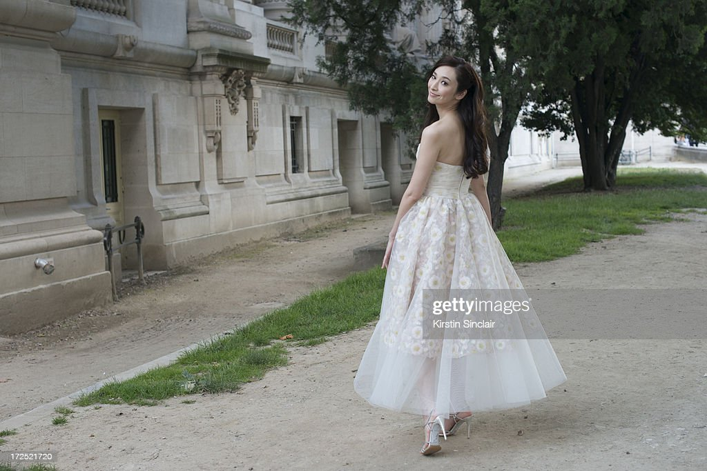 Actress <a gi-track='captionPersonalityLinkClicked' href=/galleries/search?phrase=Pace+Wu&family=editorial&specificpeople=663581 ng-click='$event.stopPropagation()'>Pace Wu</a> wears Giambattista Valli on day 1 of Paris Collections: Womens Haute Couture on July 01, 2013 in Paris, France.