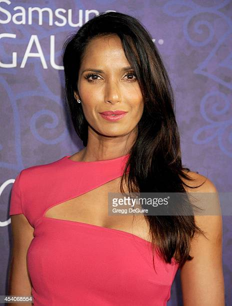 Actress Padma Lakshmi arrives at the Variety And Women In Film Annual PreEmmy Celebration at Gracias Madre on August 23 2014 in West Hollywood...