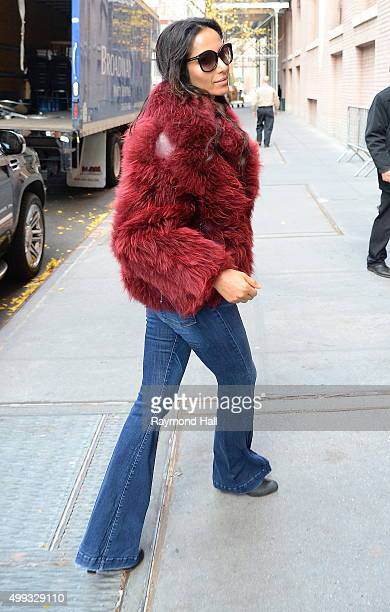 Actress Padma Lakshmi is seen outside the 'View' on November 30 2015 in New York City