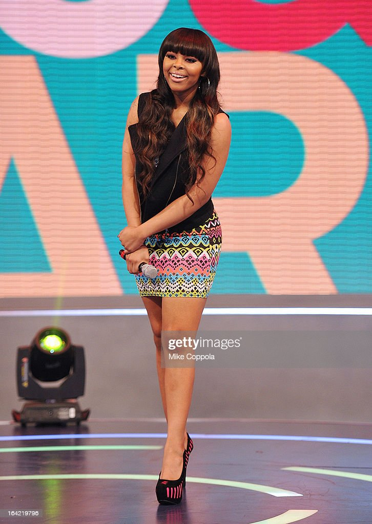 Actress Paigion co-hosts BET's 106th & Park show at 106 & Park Studio on March 20, 2013 in New York City.