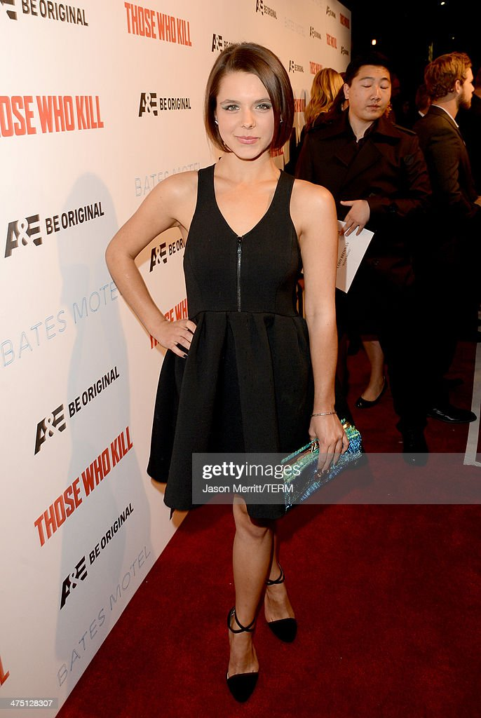 Actress Paloma Kwiatkowski attends A&E's 'Bates Motel' and 'Those Who Kill' Premiere Party at Warwick on February 26, 2014 in Hollywood, California.