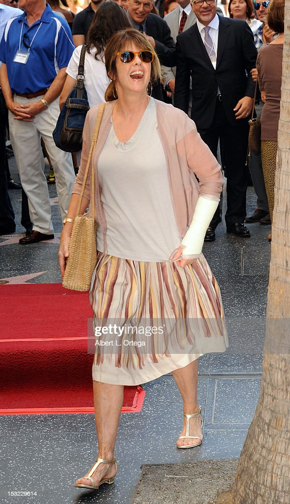 Actress Pam Dawber participates in the Mark Harmon Star Ceremony on The Hollywood Walk Of Fame on October 1, 2012 in Hollywood, California.