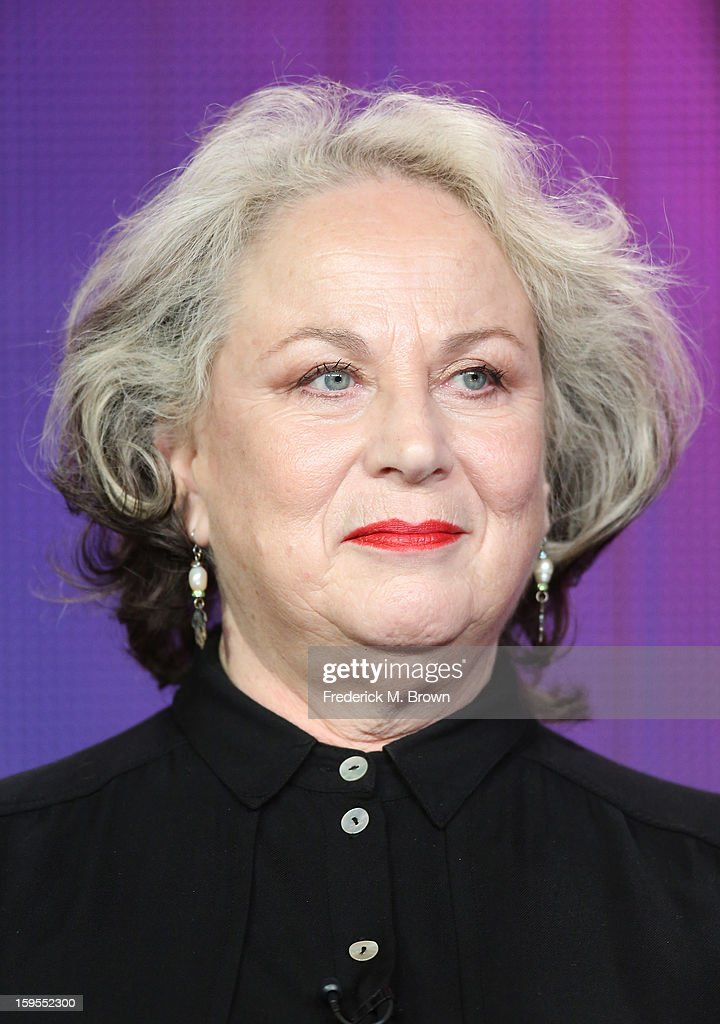 Actress Pam Ferris speaks onstage during the 'Call The Midwife' panel discussion during the PBS Portion- Day 2 of the 2013 Winter Television Critics Association Press Tour at Langham Hotel on January 15, 2013 in Pasadena, California.