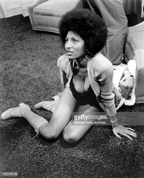 Actress Pam Grier in a scene from the movie 'Coffy' circa 1973 in Los Angeles California