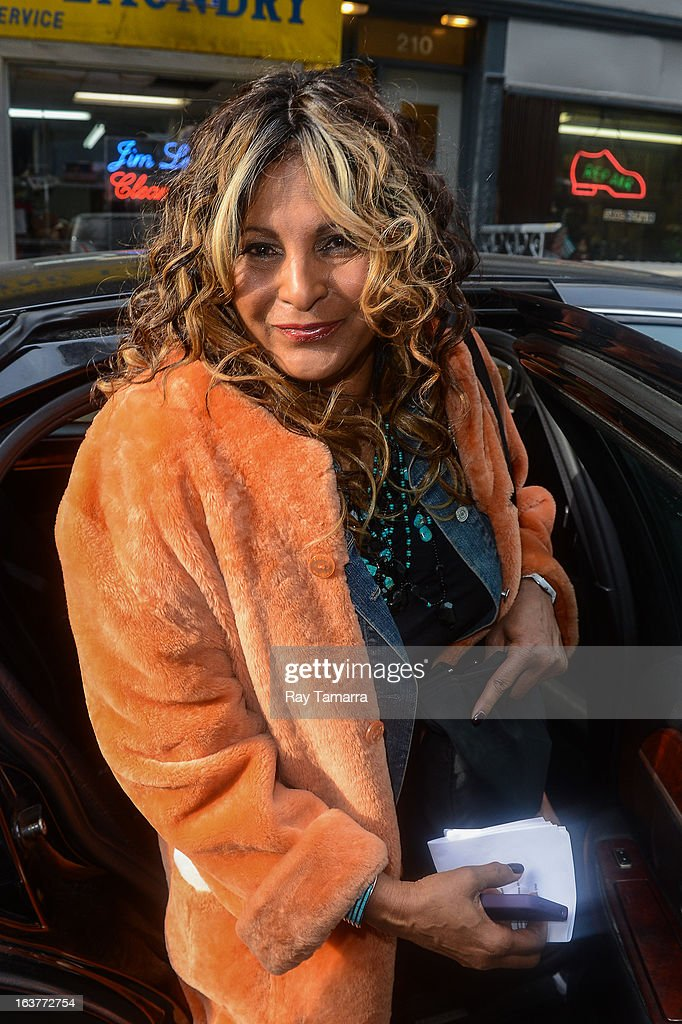 Actress <a gi-track='captionPersonalityLinkClicked' href=/galleries/search?phrase=Pam+Grier&family=editorial&specificpeople=227048 ng-click='$event.stopPropagation()'>Pam Grier</a> leaves the 'Good Day New York' taping at the Fox 5 Studios on March 15, 2013 in New York City.