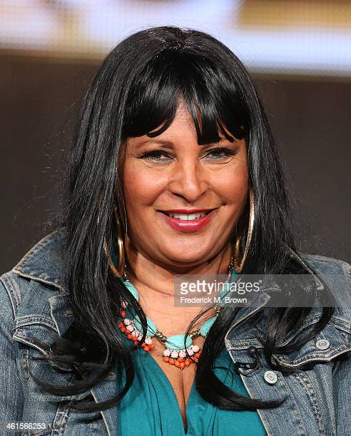Actress Pam Grier speaks onstage during the 'Unsung Hollywood' panel discussion of the TV One portion of the 2014 Winter Television Critics...